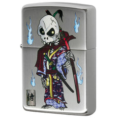 Zippo Lighter Dress up Skull Samurai