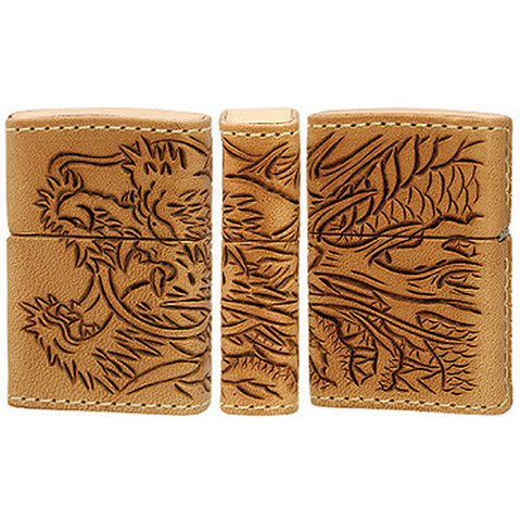 Zippo Lighter Leather wrapped Dragon LWC-Z Leather Works CHAOS