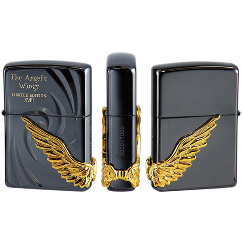Armor Zippo Lighter Angel Wing 2018 model Limited Edition BK PAW-118BNG