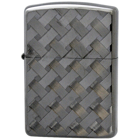 Armor Japan Zippo Lighter Both Sides Design Wire mesh II-B Black Nickel