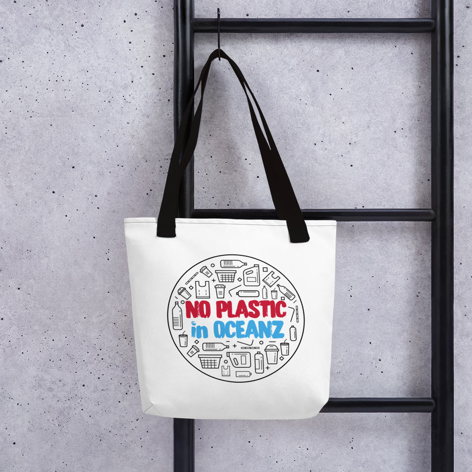 No Plastic in Oceanz Tote bag