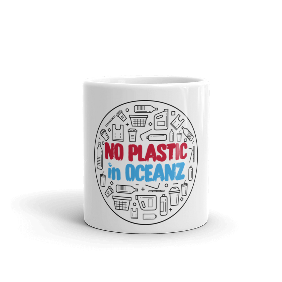 No Plastic in Oceanz Mug