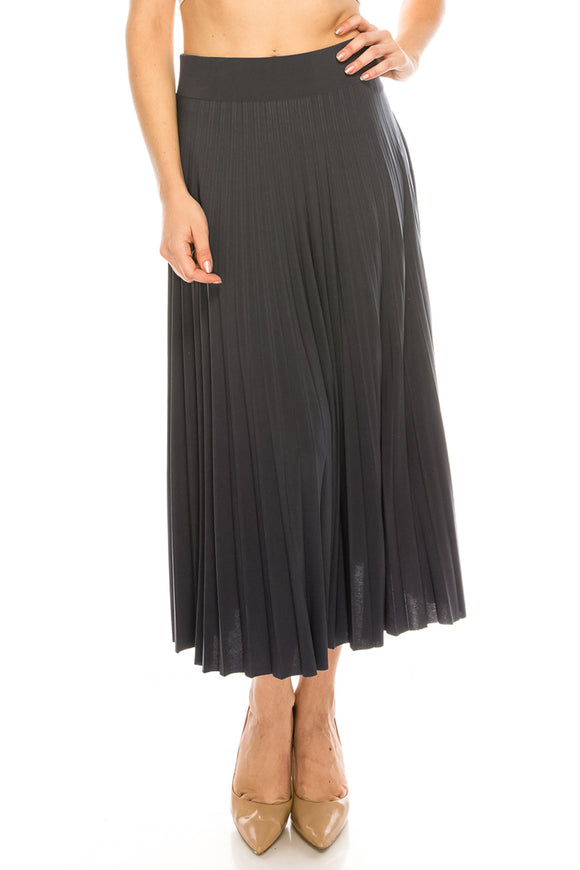 Pleated Midi Skirt - $9