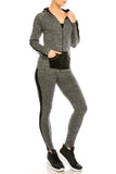 Stripe Raglan Track Jacket and Pants Set-$12