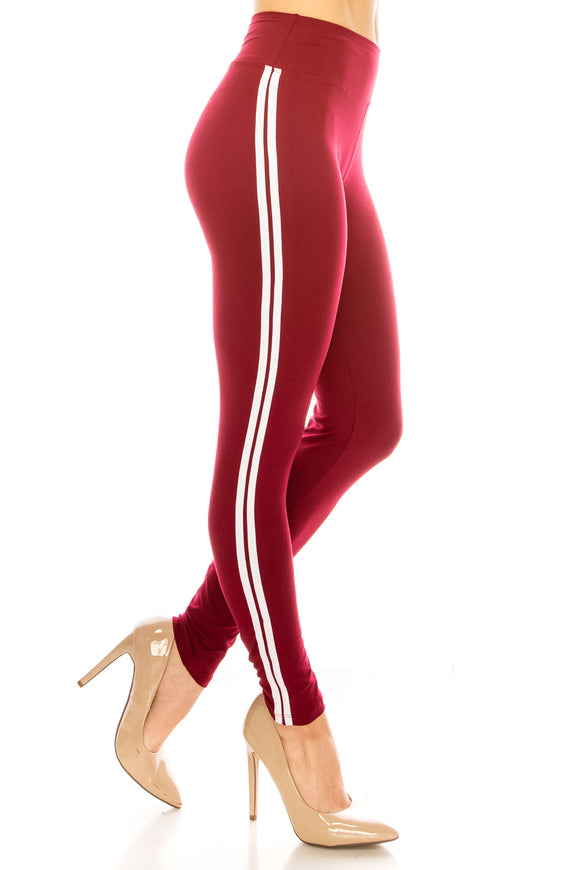 Striped Yoga Leggings Plus Size - $4.75