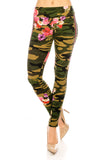 CMYO1021 - Camo Floral Leggings - $5