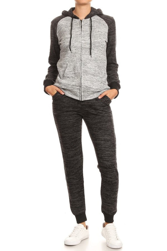 WY83 RAGLAN FLEECE JOGGING SUIT - $13