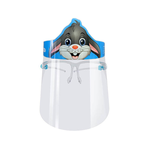 Kids Cartoon Face Shield with Glasses