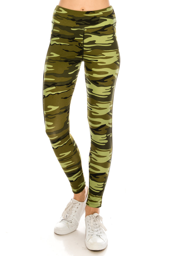 Camo Yoga Stretch Pants - $5