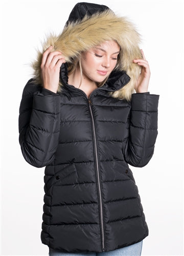 SO2023L-WOMEN'S PUFFER JACKET  W Hood  $20