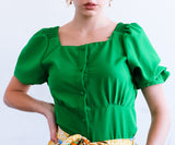 A208 - Square Neck Blouse - $13.50