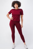 Solid T-shirt w/ Leggings Set - $11.00
