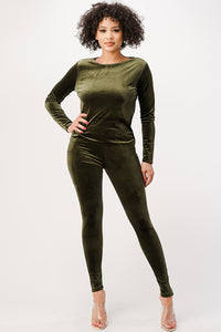 Velvet Full Sleeve with Leggings - $14.50