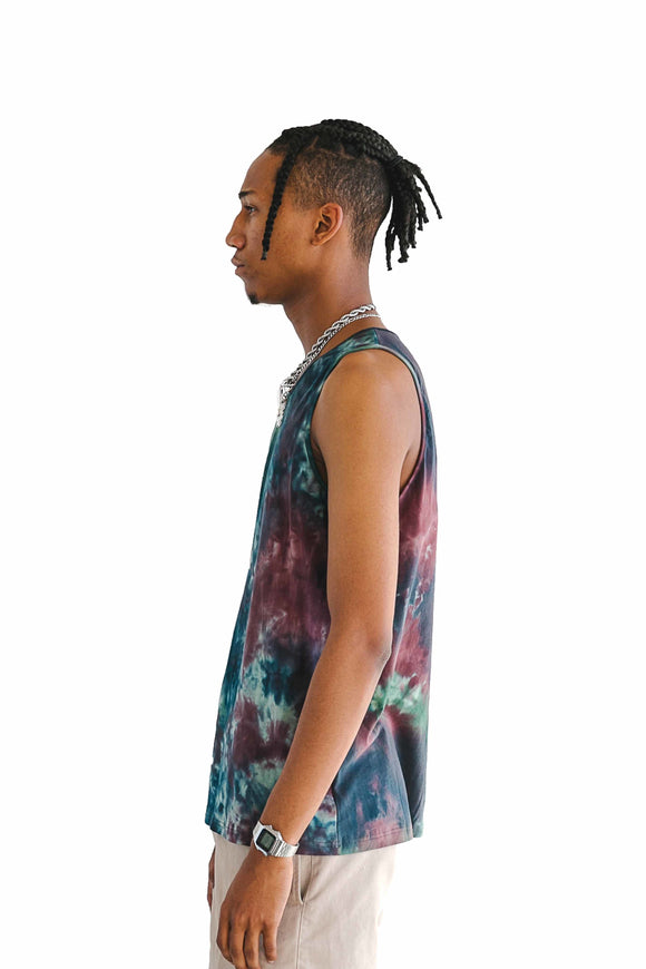TIE DYE STRETCH TANK TOP