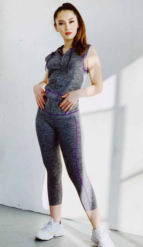 MKMF103YY - Zip Up Activewear Set-$9