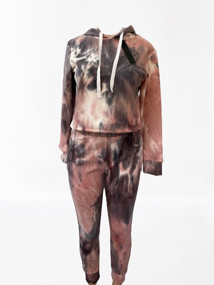 Thick Tie-Dye Cropped Hoodie - DSP