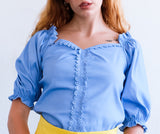 M888 - Sweetheart Puff Sleeve Top - $13.50
