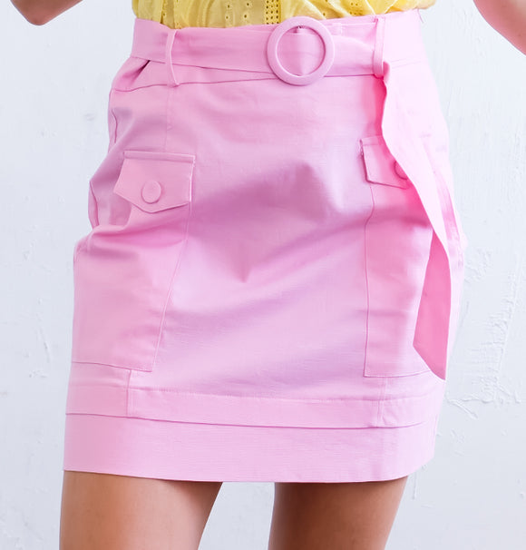 P529 - High Waist Mini Skirt - $13.50