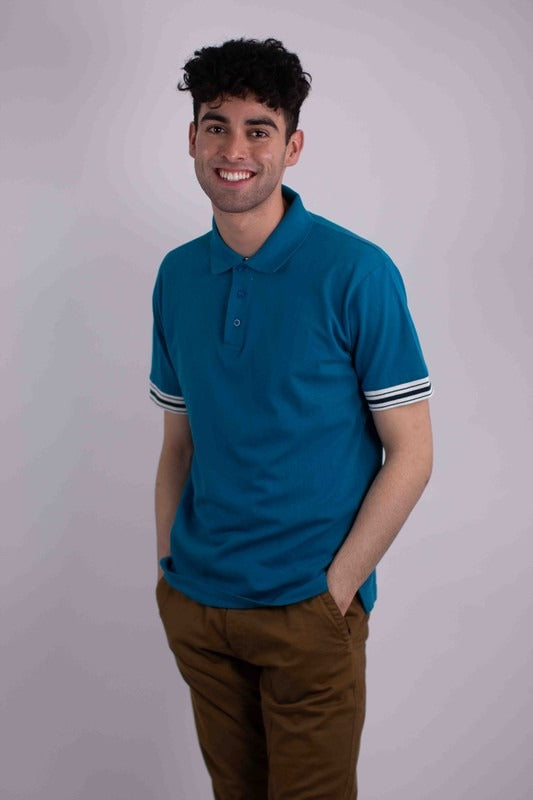 Generation Solid Pique Polo With Tipping Collars HF-1802 - $7.50