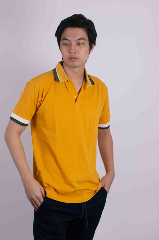 Generation Solid Pique Polo With Tipping Collars HF-1803 - $7.50