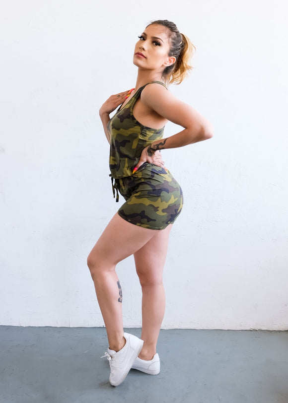 PLR101 - Army Green Romper - $7.50