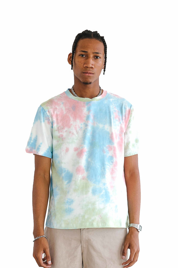 TIE DYE SHORT SLEEVE TEE - LIGHT - $9