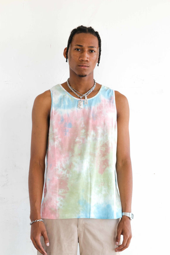 TIE DYE STRETCH TANK TOP - LIGHT - $8
