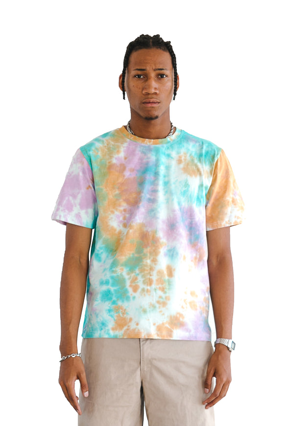 TIE DYE SHORT SLEEVE TEE - ORANGE - $9