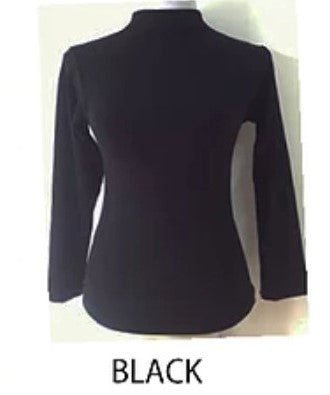 Seamless Long Sleeve Mock-Neck - $4.25