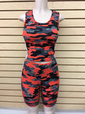 JD-05 - Striped Camo Tank Top and Biker Shorts Set - $8.5