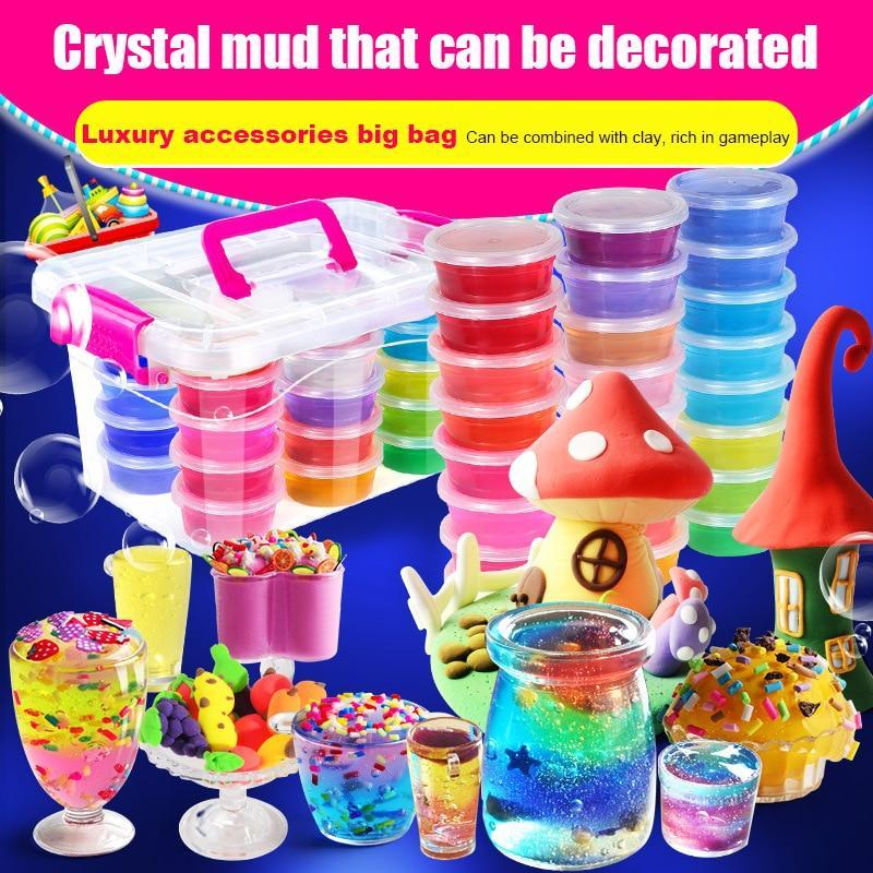 12/24 Pack Various DIY Crystal Slime Kits - Asmr geek