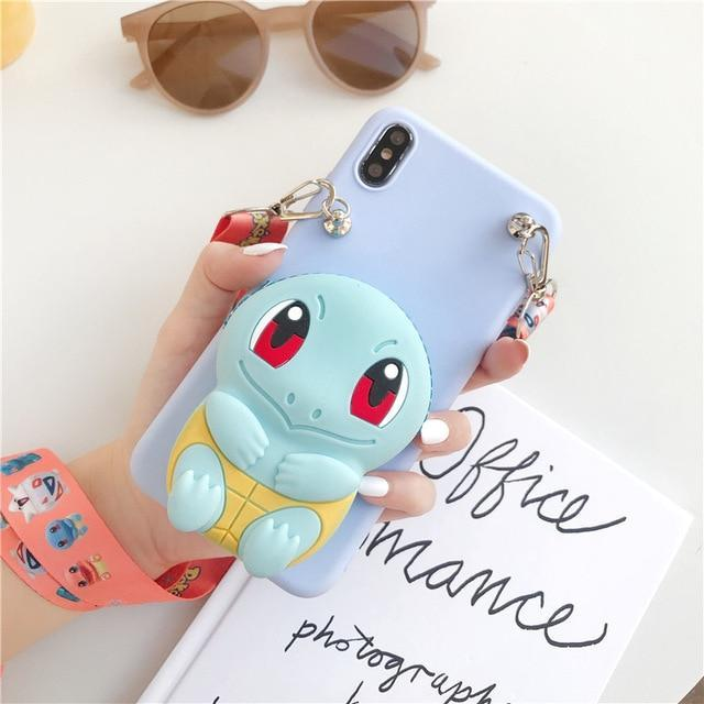 3D Baby Squirtle Phone Case Wallet - Asmr geek