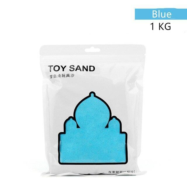 500/1000g Blue Kinetic Magic Toy Sand - Asmr geek