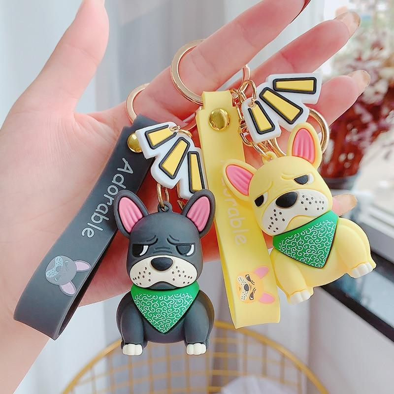 Adorable French Bulldog Keychain - Asmr geek