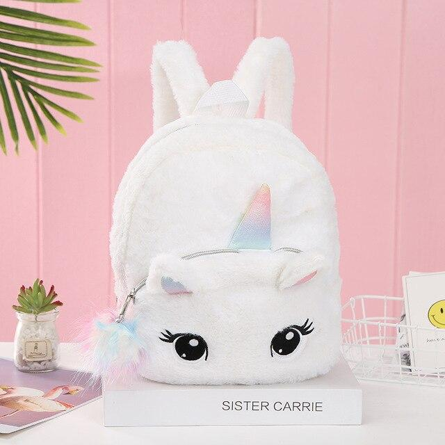 Cute Big Eyes Kawaii Unicorn Plushy Backpack - Asmr geek
