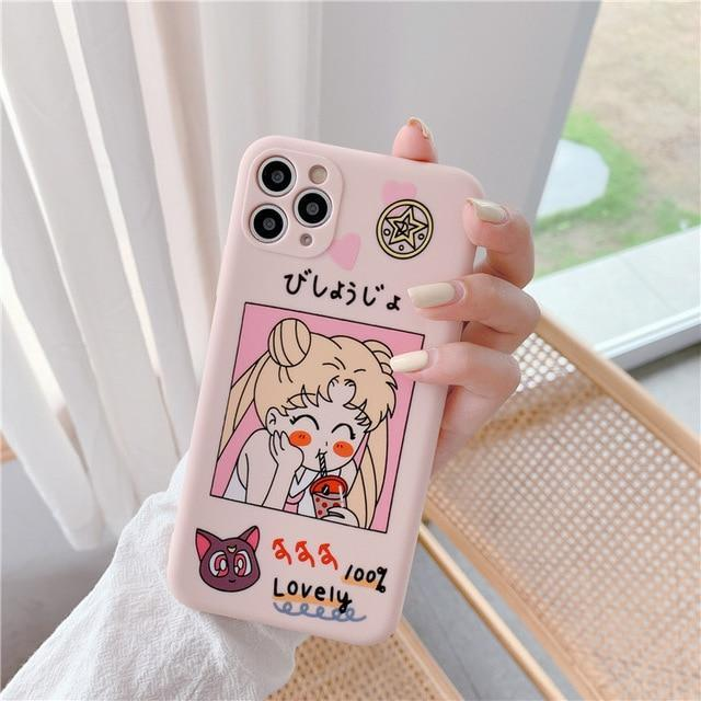 Cute Pink Sailor Moon Kawaii Phone Case - Asmr geek