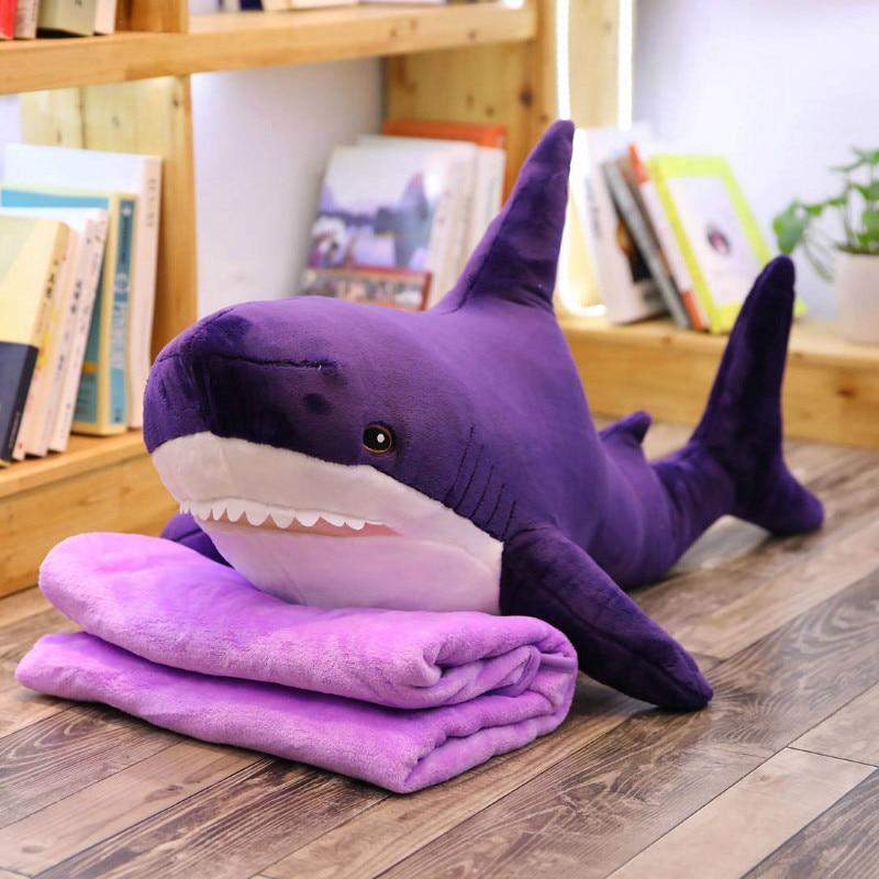 Giant Cute Velvet Shark Plushie - Asmr geek