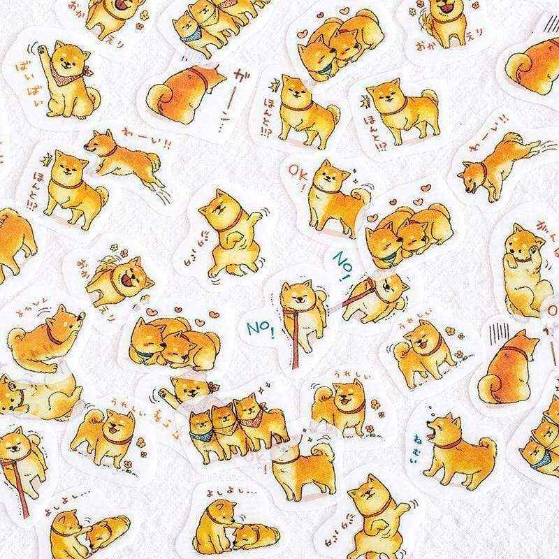 Japanese Shiba Dog Sticker Set - Asmr geek