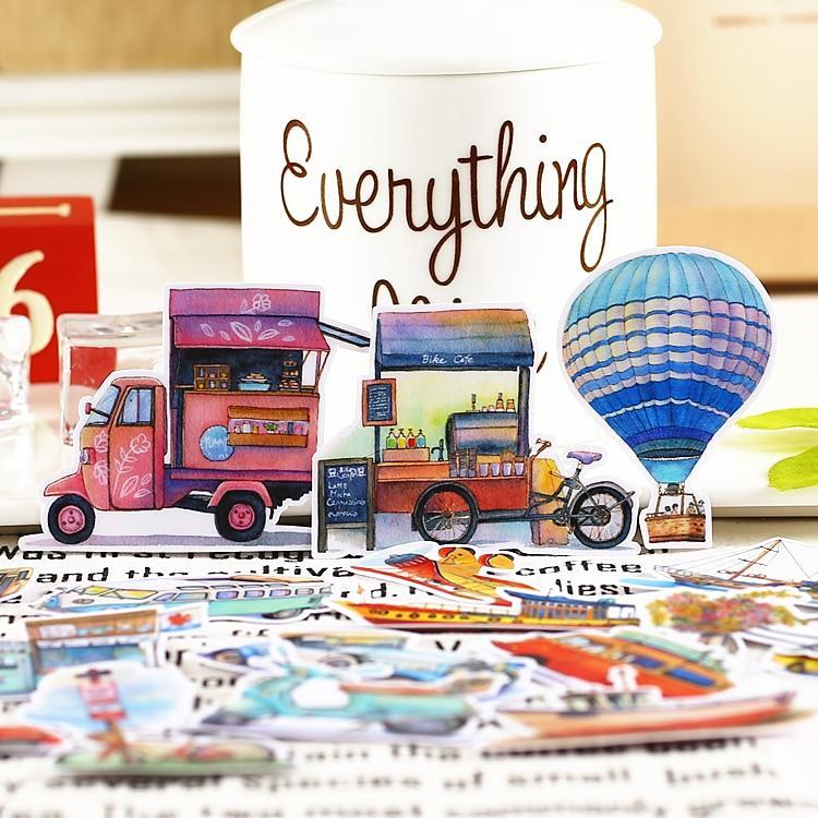 Living Vehicles Japan Scrapbook Sticker Set - Asmr geek