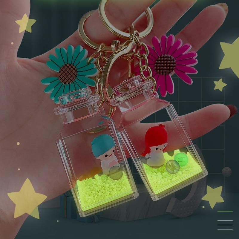 Luminous Glowing Liquid Baby Angel Keychain - Asmr geek