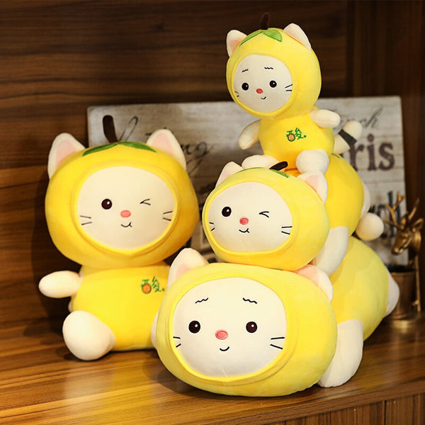 Cute Kawaii Lemon Cat Plushies - Asmr geek