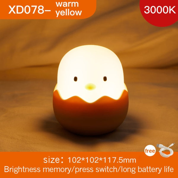 LED Chick Egg Children Night Light - Asmr geek