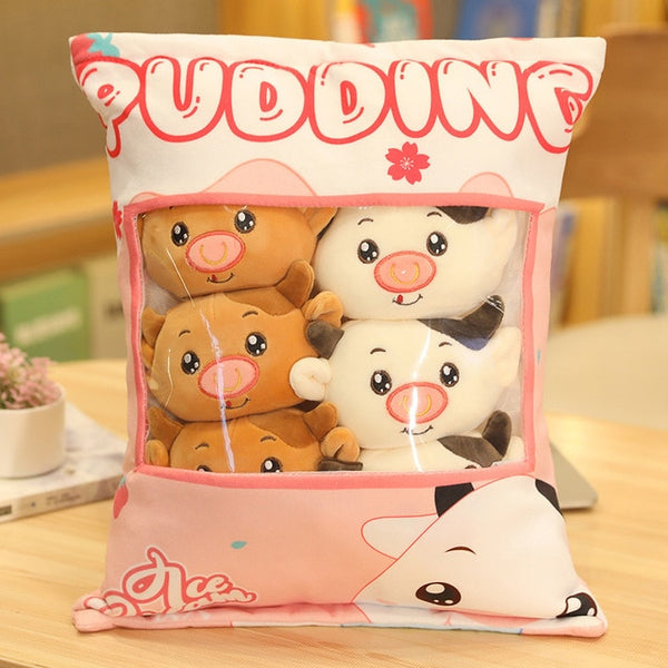 Pudding Cows Plushie Bag - Asmr geek