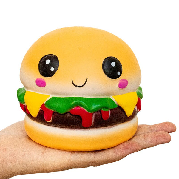 Slow Rising Happy Hamburger Squishy