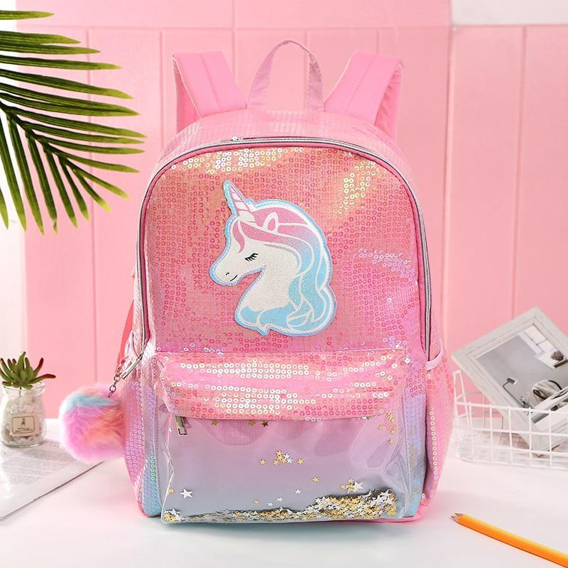Sequined Leather Unicorn Love Backpack - Asmr geek