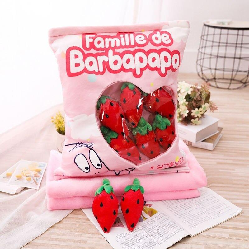 Strawberry Tomatos Plush Pillow Bag - Asmr geek