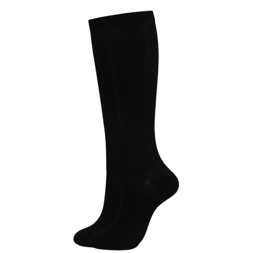 Black Compression Socks for Men and Women 15-20 mmHg - SqueezeGear