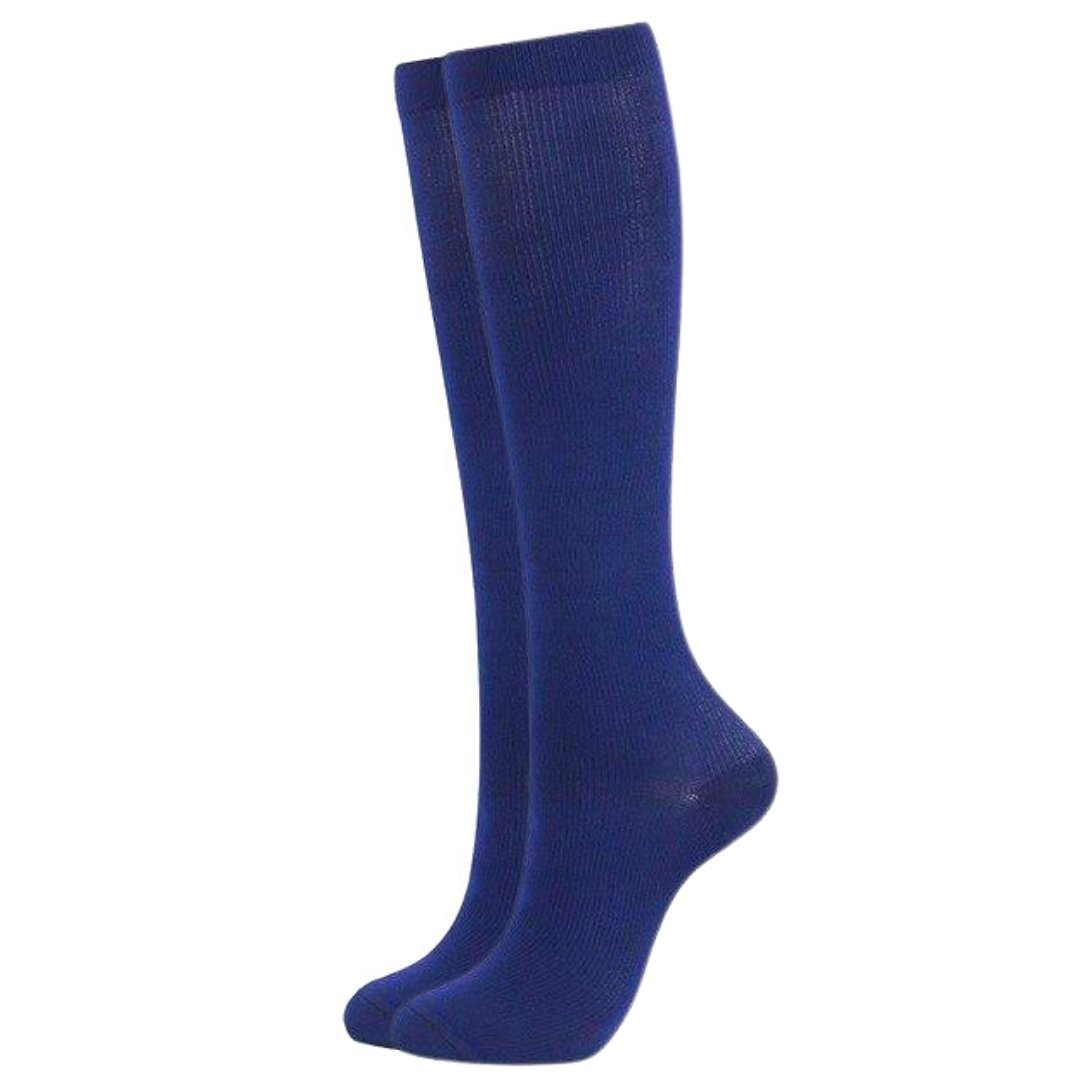 Blue Compression Socks for Men and Women 15-20 mmHg - SqueezeGear