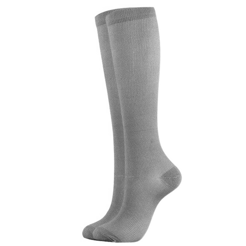 Gray Compression Socks for Men and Women 15-20 mmHg - SqueezeGear