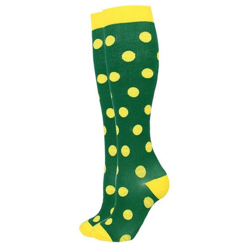 Green Polka Compression Socks for Men and Women 15-20 mmHg - SqueezeGear